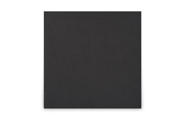 Hypafol farbige Servietten, 33 x 33 cm, 3-lagig, schwarz