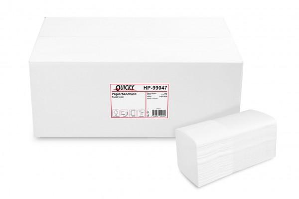 Quicky Papierhandtuch 3-lagig Multi-/Interfold, Zellstoffpapier, hochweiß, 2.560 Blatt