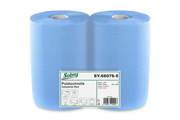 Sobsy Industrierolle, 2-lg., Ø 25 cm, 37x36 cm, Zellstoff, blau