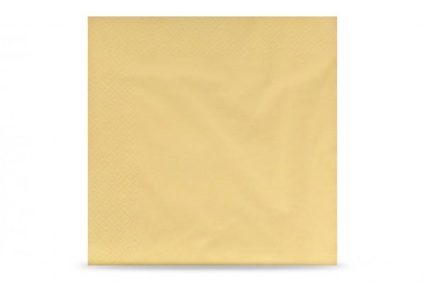 Hypafol farbige Servietten, 40 x 40 cm, 3-lagig, creme