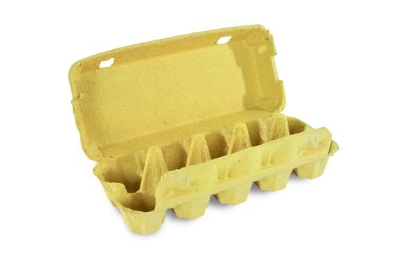 10er Eierverpackung, neutral - ohne Druck, gelb