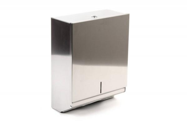 SemyTop Papierhandtuch-Spender, Edlestahl, für ca. 500 Stk