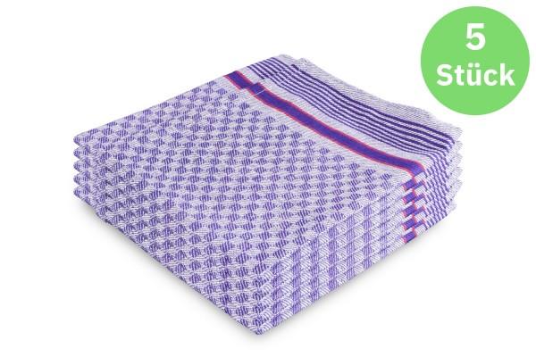 SemyTop Grubentuch, 100% Baumwolle, 50 x 90 cm, blau-grau, 5 Stück
