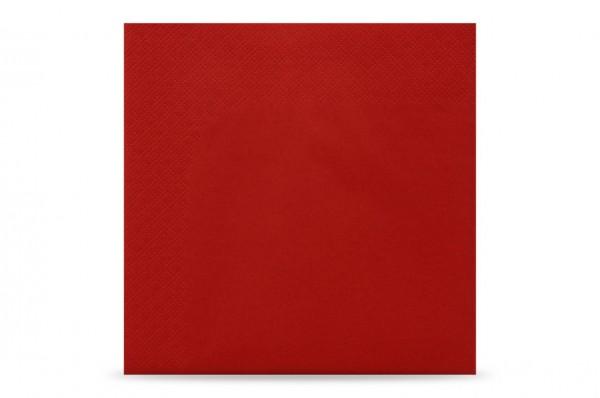 Hypafol farbige Servietten, 33 x 33 cm, 3-lagig, rot