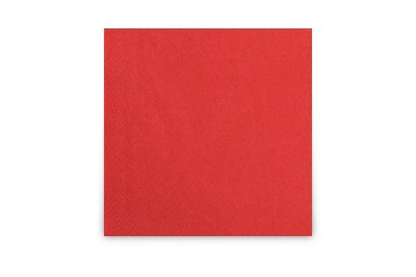 Hypafol farbige Cocktailserviette, 24 x 24 cm, rot