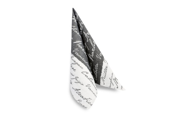 Hypafol Airlaid Motivserviette Bodega, schwarz